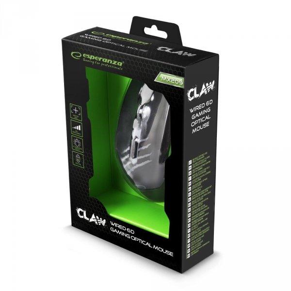 MYSZ PRZEWOD. DLA GRACZY 6D OPT. USB MX209 CLAW ZIELONA