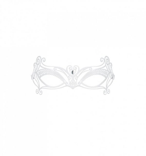 A703 metalowa maska biała