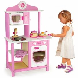 Viga Toys Kuchnia Drewniana Princess Pink