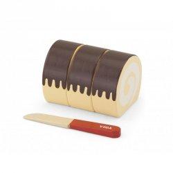 Viga Drewniane Ciasto do krojenia + Nóż