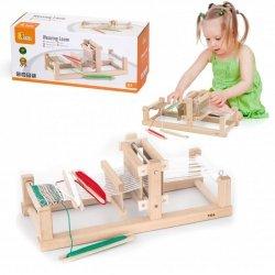 Krosno Tkackie Warsztat Tkacki Drewniany zestaw do tkania Viga Toys dla dziecka
