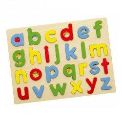 Puzzle Drewniana Układanka Edukacyjna Literki Alfabet abc Viga Toys