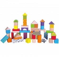 Drewniane klocki Edukacyjne Viga Toys Wiaderko 50 elementów