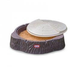 Little Tikes Duża Piaskownica Pień Drzewa Basen z Pokrywą