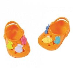 Buciki z przypinkami dla lalki Baby Born 43 cm w kolorze pomarańczowym