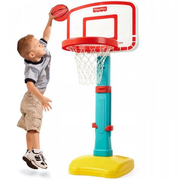 Fisher Price Koszykówka dla dzieci kosz regulowana + piłka