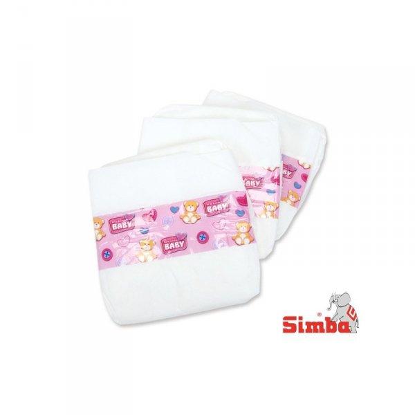 SIMBA Pampersy Pieluszki dla lalki 38-43cm 3 sztuki