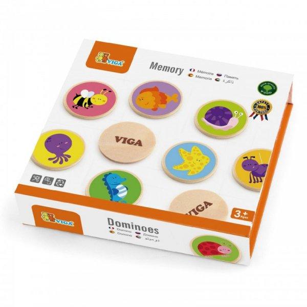 Gra Zapamiętywanie Zwierzątka Memo Viga Toys Drewniane
