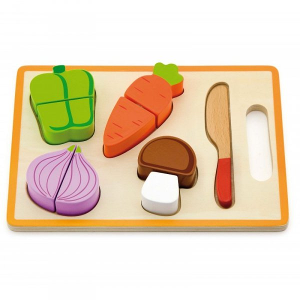 Drewniany Zestaw Deska Nóż Do Krojenia Warzywa Viga Toys