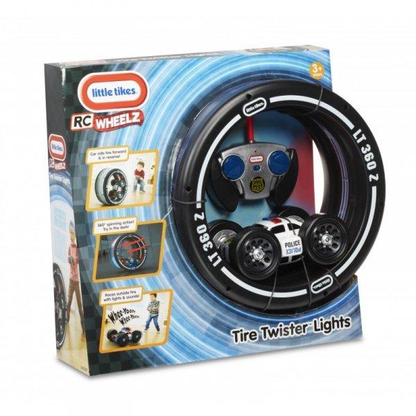 Little Tikes Samochód Policyjny RC w oponie 2w1 Tire Twister Light