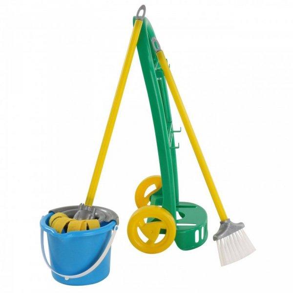 Wózek do sprzątania z akcesoriami dla dzieci