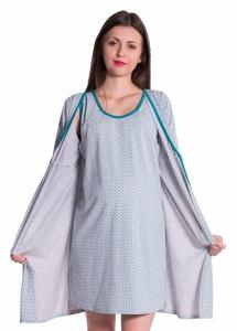 Koszula nocna ciążowa ze szlafrokiem 4034