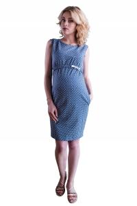 Sukienka ciążowa i do karmienia dresowa romby 4249
