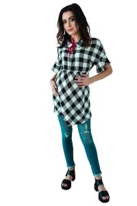 Bluzka ciążowa tunika koszulowa 4157