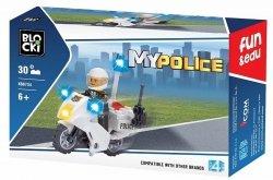 KLOCKI BLOCKI MYPOLICE POLICJA MOTOR 30 EL.