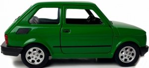 FIAT 126P MALUCH METALOWY MODEL KOLEKCJONERSKI 1:34 WELLY