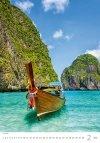 Kalendarz ścienny wieloplanszowy Tropical Beaches 2021 - luty 2021