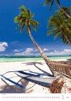 Kalendarz ścienny wieloplanszowy Tropical Beaches 2021 - styczeń 2021