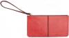 Portfel czerwony z ekoskóry zamykany na suwak