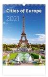 Kalendarz ścienny wieloplanszowy Cities Of Europe 2021 - okładka