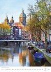 Kalendarz ścienny wieloplanszowy Cities Of Europe 2021 - luty 2021