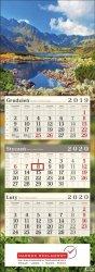 Nadruk reklamowy na kalendarzu trójdzielnym - projekt gratis