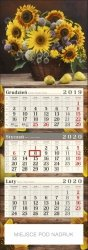 Słoneczniki Kalendarz trójdzielny POSTER 2020 z miejscem na nadruk