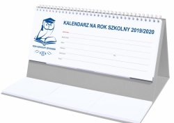 Kalendarz biurkowy EXCLUSIVE na rok szkolny 2019/2020 szary