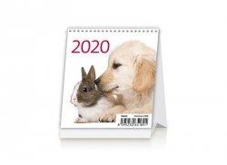 Kalendarz biurkowy 2020 Zwierzątka (Pets)
