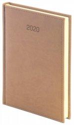 Kalendarz książkowy 2020 A5 dzienny papier chamois drukowane registry oprawa VIVELLA EXCLUSIVE beżowa