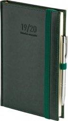 Kalendarz nauczyciela 2019/2020 format A5 układ dzienny oprawa skóropodobna NEBRASKA ZIELONA z obszyciem zamykana na gumkę + mocowanie na długopis