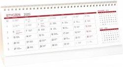 Kalendarz biurkowy stojący POZIOMY 3-MIESIĘCZNY 2020