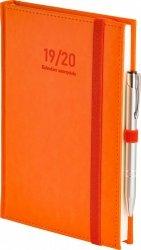 Kalendarz nauczyciela 2019/2020 format A5 układ dzienny oprawa skóropodobna NEBRASKA POMARAŃCZOWA z obszyciem zamykana na gumkę + mocowanie na długopis