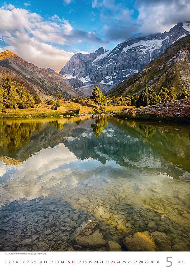 Kalendarz ścienny wieloplanszowy Mountains 2021 - maj 2021