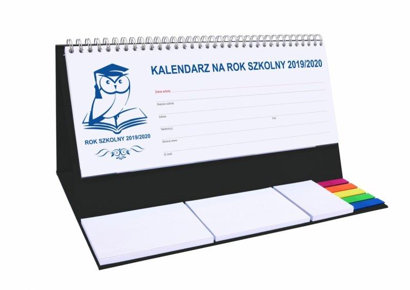 Kalendarz biurkowy EXCLUSIVE PLUS na rok szkolny 2019/2020 - czarny