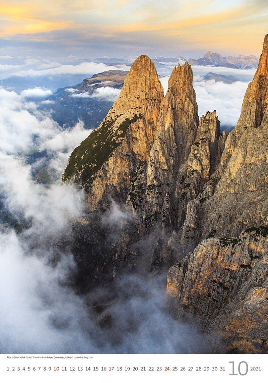 Kalendarz ścienny wieloplanszowy Alps 2021 - październik 2021