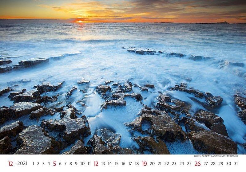 Kalendarz ścienny wieloplanszowy Sea 2021 - grudzień 2021