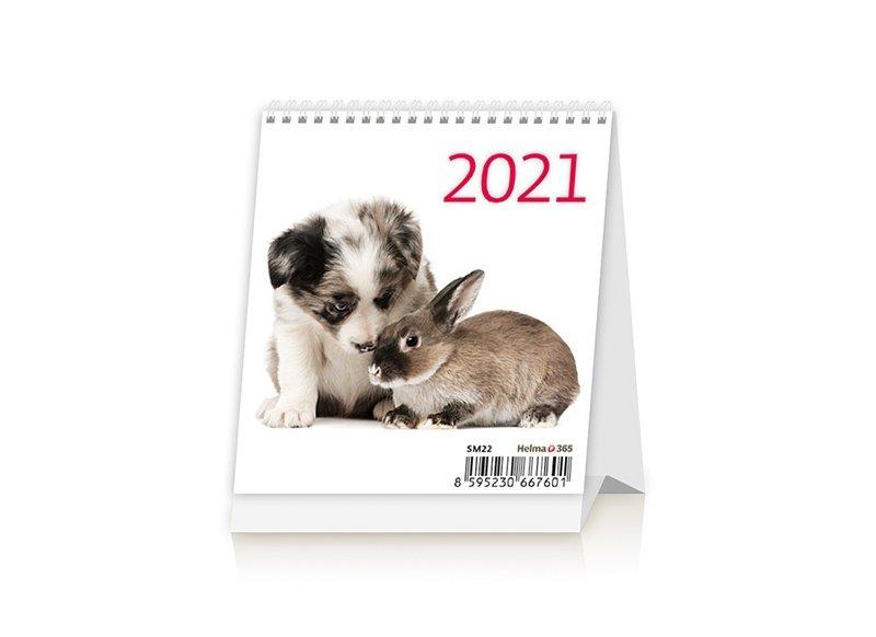 Kalendarz biurkowy 2021 Zwierzątka (Pets)