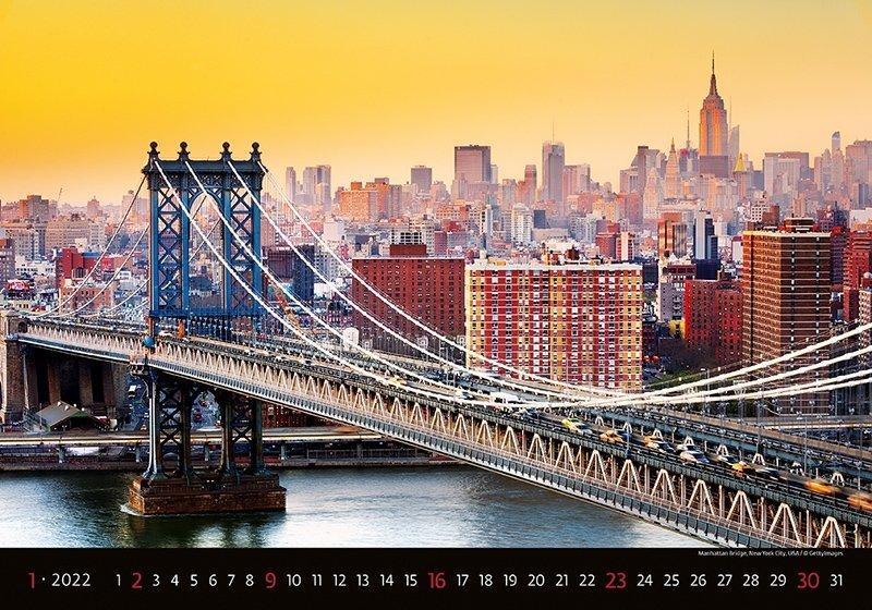 Kalendarz ścienny wieloplanszowy Bridges 2022 - styczeń 2022