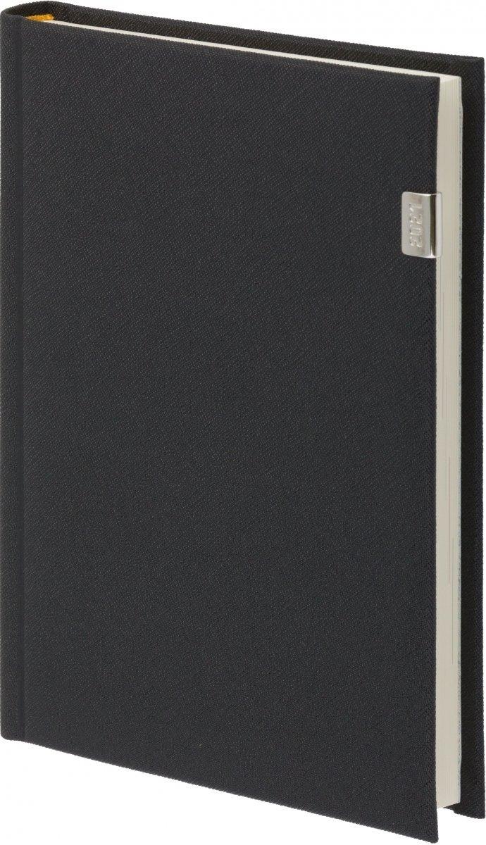 Kalendarz książkowy 2021 A4 tygodniowy oprawa z metalową datą ROSSA czarna