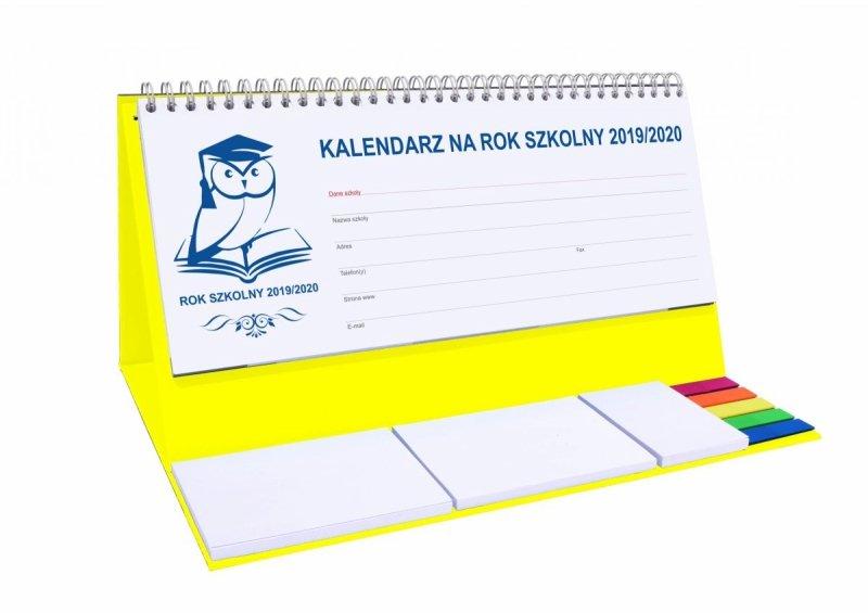 Kalendarz biurkowy EXCLUSIVE PLUS na rok szkolny 2019/2020 - żółty