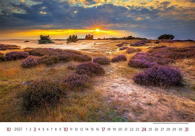 Kalendarz ścienny wieloplanszowy Landscapes 2021 - październik 2021
