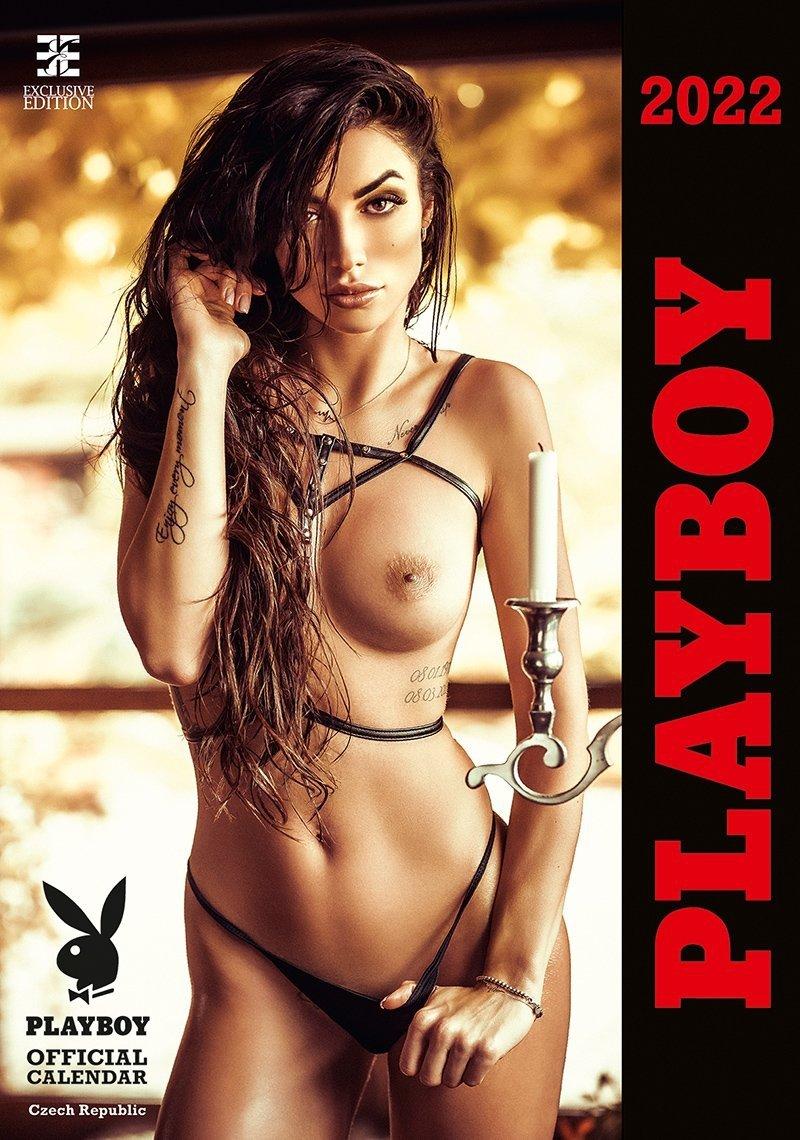 Kalendarz ścienny wieloplanszowy Playboy 2022 - exclusive edition - okładka