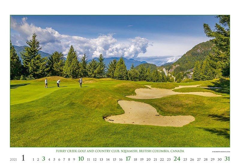 Kalendarz ścienny wieloplanszowy Golf 2021 - exclusive edition - styczeń 2021