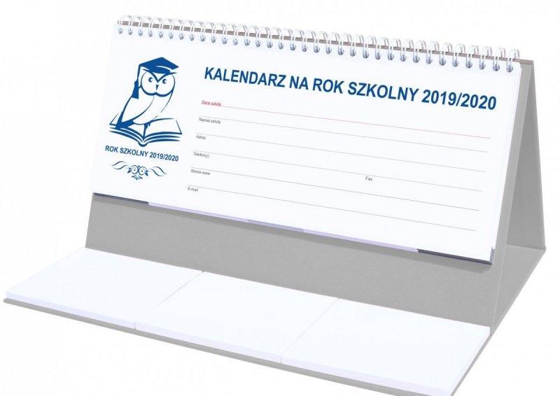 Kalendarz biurkowy EXCLUSIVE na rok szkolny 2019/2020 - szary
