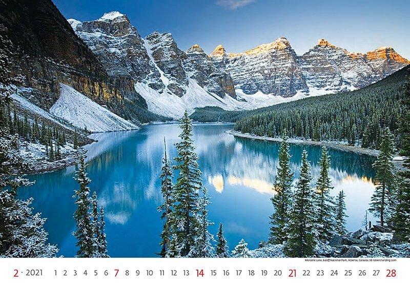 Kalendarz ścienny wieloplanszowy National Parks 2021 - luty 2021