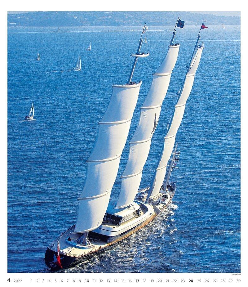 Kalendarz ścienny wieloplanszowy Sailing 2022 - exclusive edition - kwiecień 2022