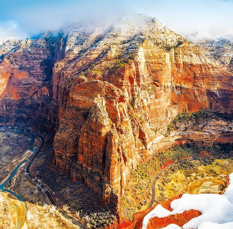 Kalendarz ścienny wieloplanszowy National Parks 2022 z naklejkami - luty 2022