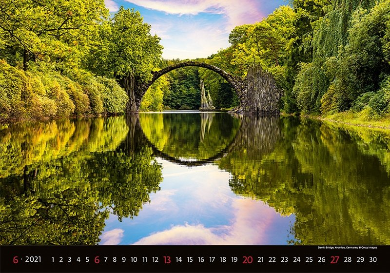 Kalendarz ścienny wieloplanszowy Bridges 2021 - czerwiec 2021