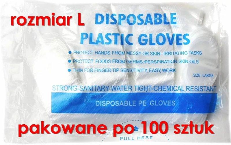 rękawiczki foliowe jednorazowe opakowanie 100 sztuk
